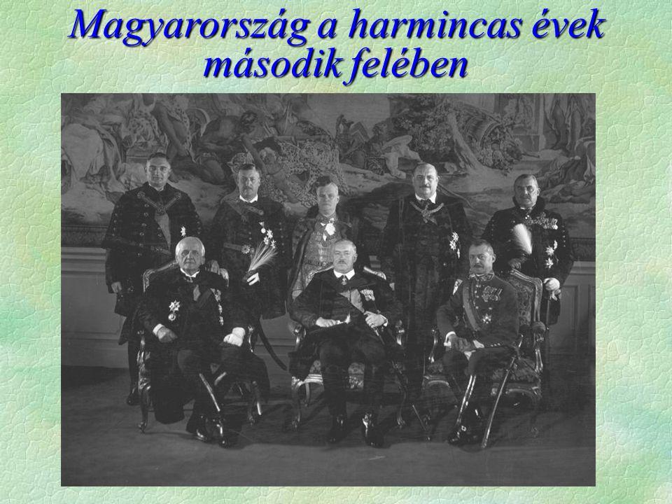 Magyarország a harmincas évek második felében
