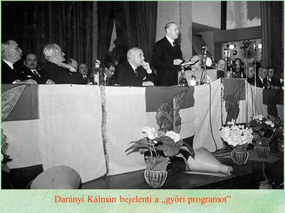 """Darányi Kálmán bejelenti a """"győri programot"""""""