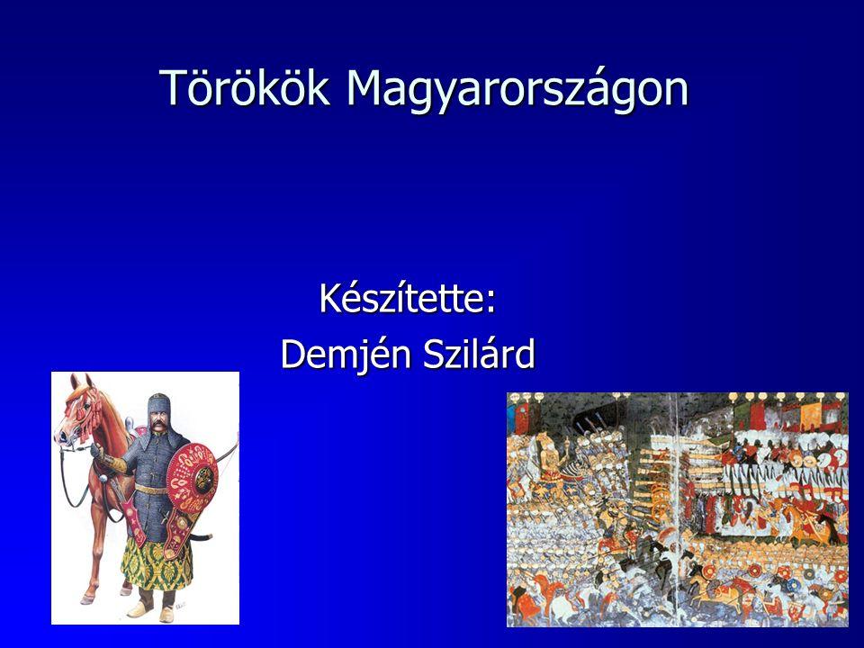 Törökök Magyarországon Készítette: Demjén Szilárd