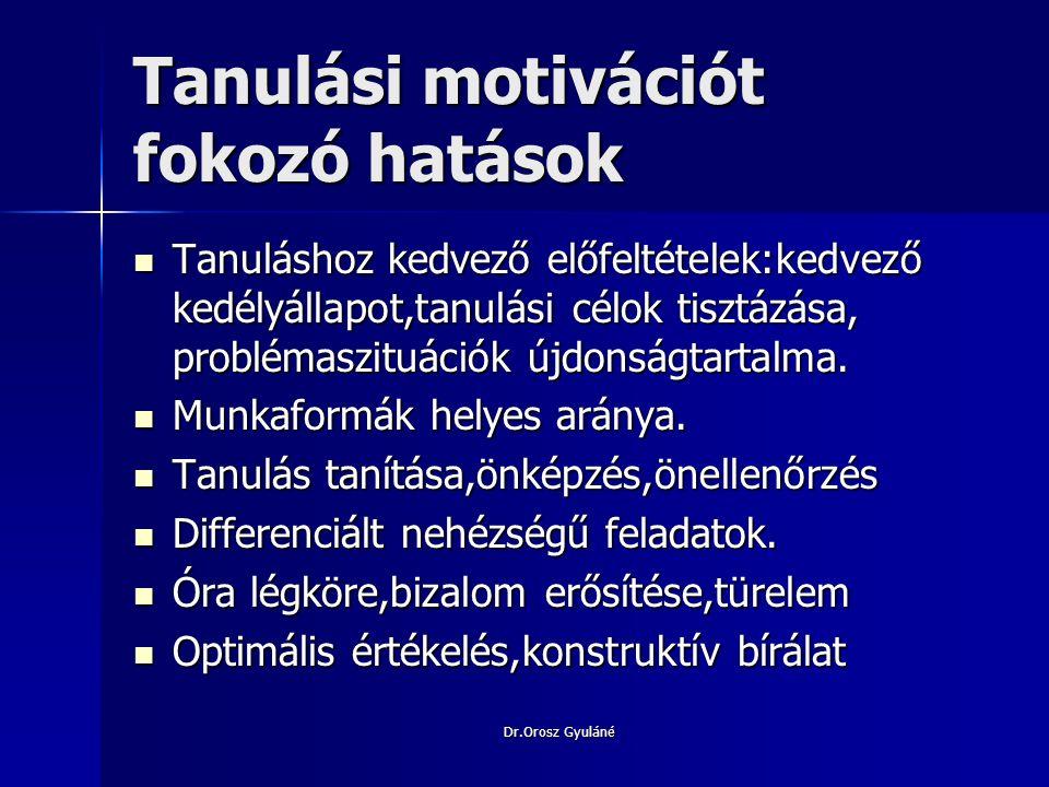 Dr.Orosz Gyuláné Motiváció a matematikaórákon Gyermek-közeli problémák,szellemesek,érdekesek.