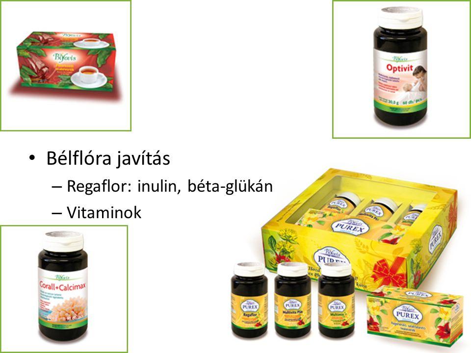 Bélflóra javítás – Regaflor: inulin, béta-glükán – Vitaminok