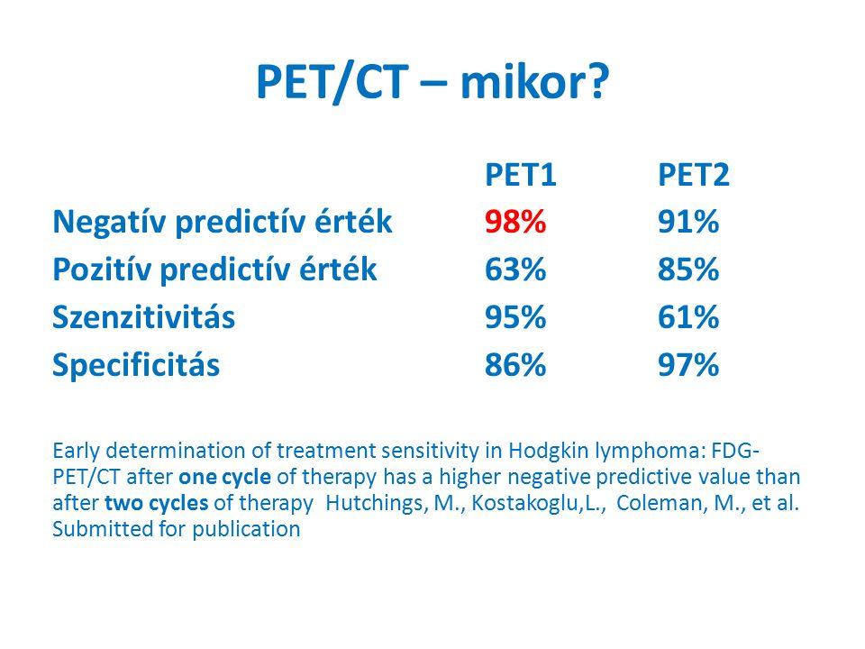 PET/CT – mikor.