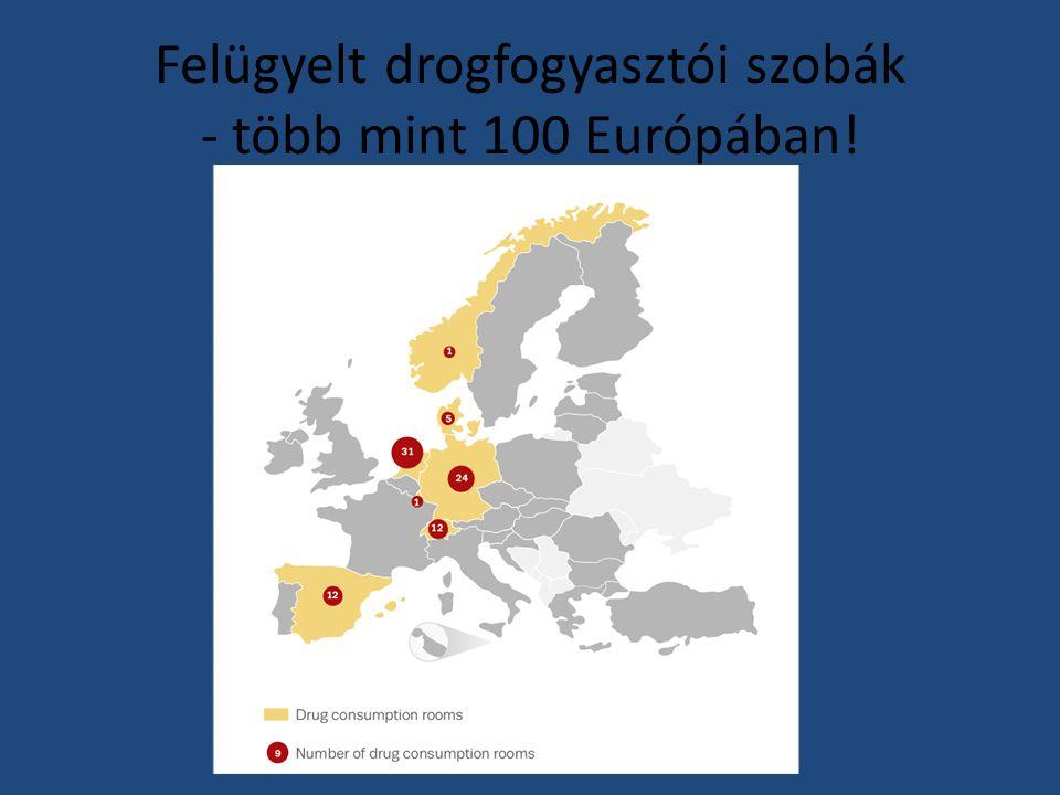 Felügyelt drogfogyasztói szobák - több mint 100 Európában!