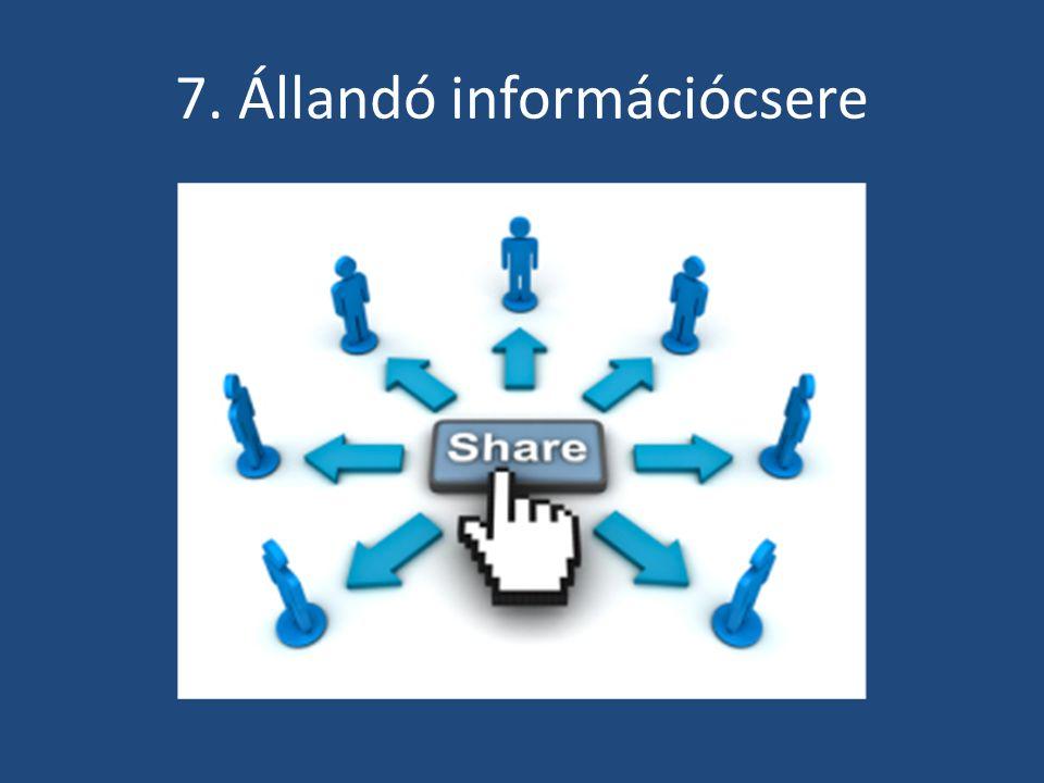 7. Állandó információcsere