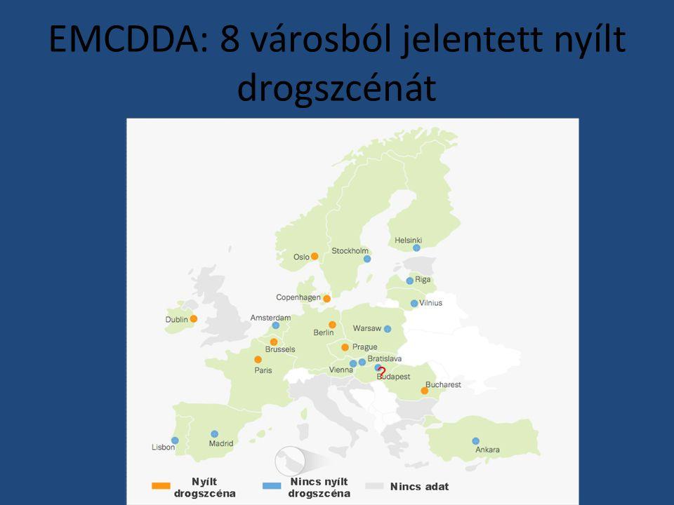 EMCDDA: 8 városból jelentett nyílt drogszcénát ?