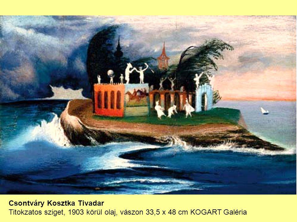 Csontváry Kosztka Tivadar Titokzatos sziget, 1903 körül olaj, vászon 33,5 x 48 cm KOGART Galéria