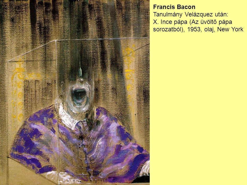 Francis Bacon Tanulmány Velázquez után: X.