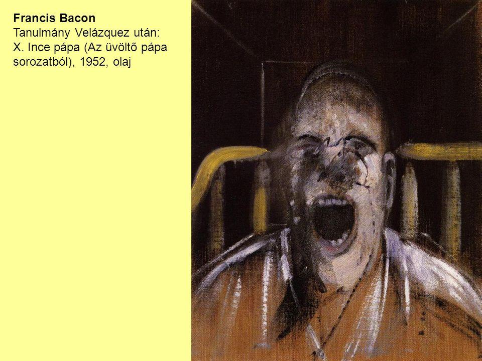Francis Bacon Tanulmány Velázquez után: X. Ince pápa (Az üvöltő pápa sorozatból), 1952, olaj