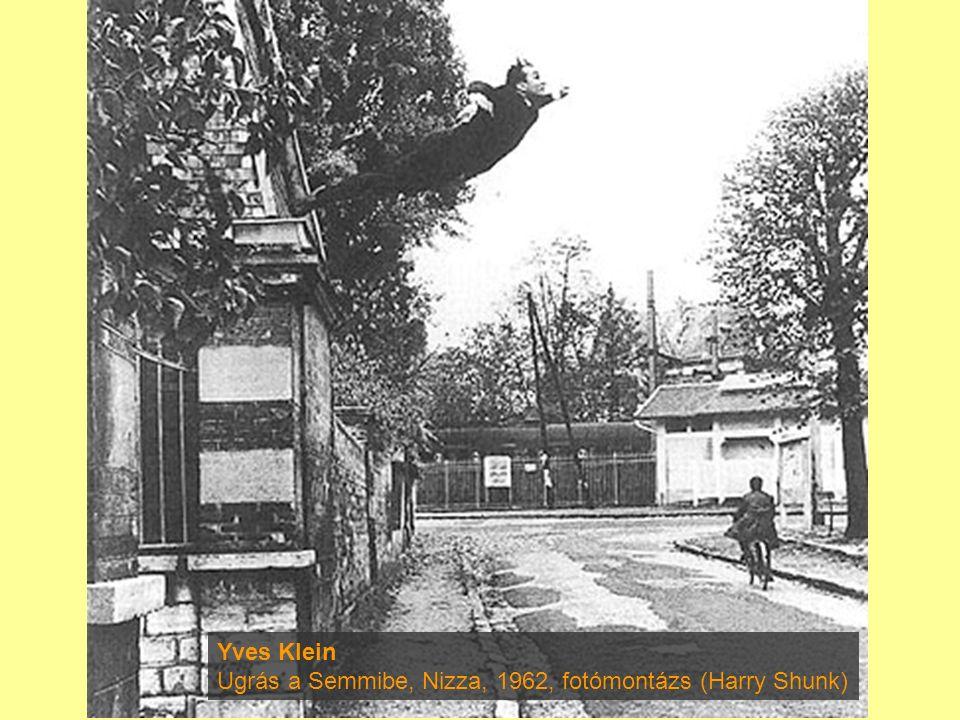 Yves Klein Ugrás a Semmibe, Nizza, 1962, fotómontázs (Harry Shunk)