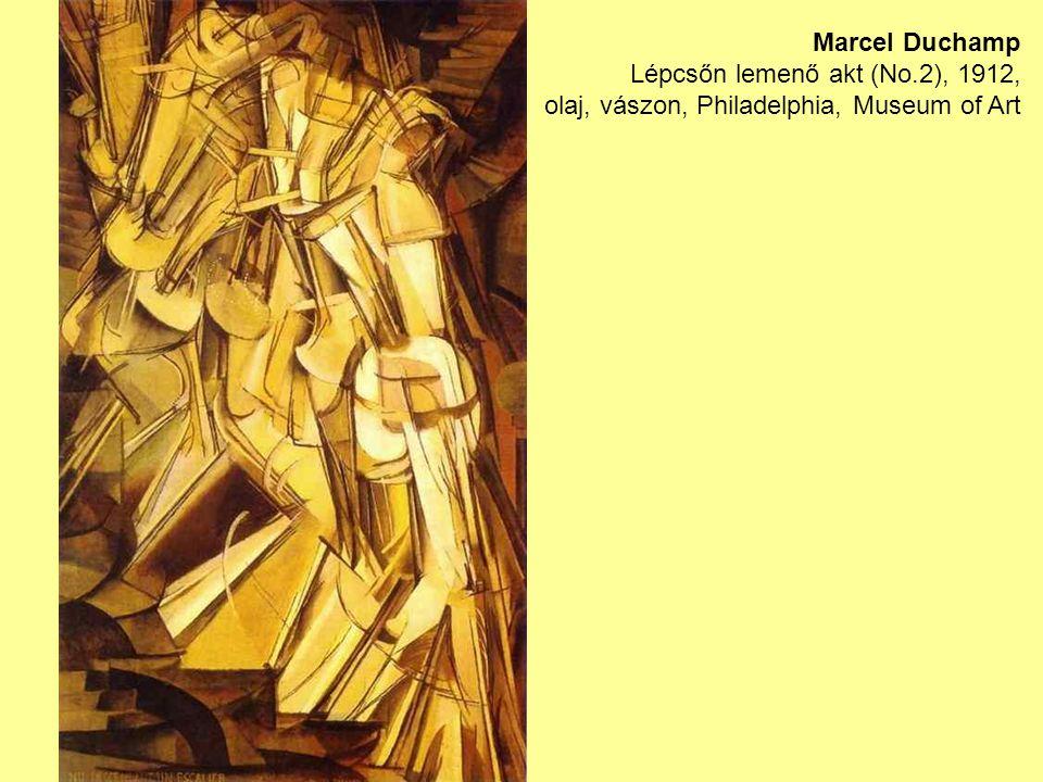 Marcel Duchamp Lépcsőn lemenő akt (No.2), 1912, olaj, vászon, Philadelphia, Museum of Art