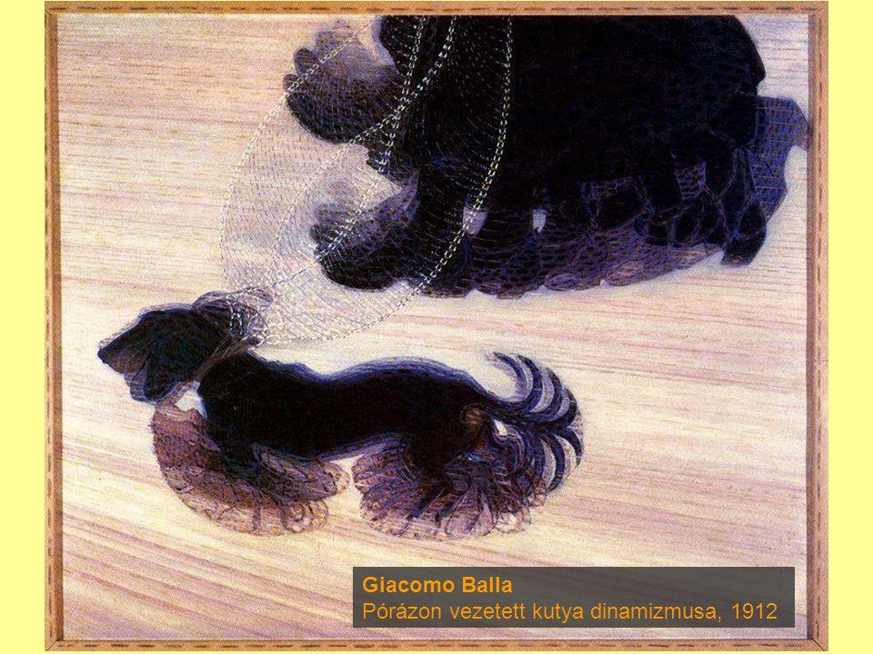 Giacomo Balla Pórázon vezetett kutya dinamizmusa, 1912