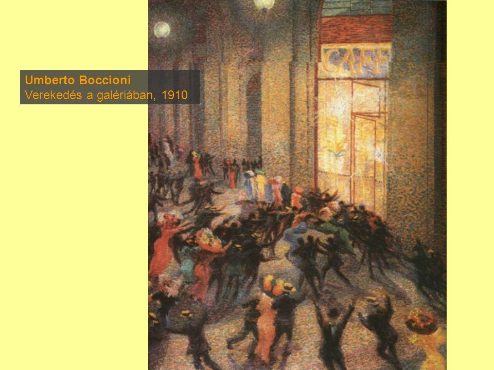 Umberto Boccioni Verekedés a galériában, 1910
