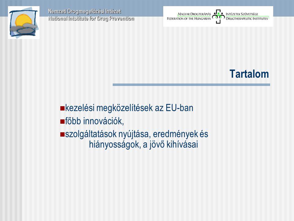 Tartalom kezelési megközelítések az EU-ban főbb innovációk, szolgáltatások nyújtása, eredmények és hiányosságok, a jövő kihívásai Nemzeti Drogmegelőzési Intézet National Intstitute for Drug Prevention