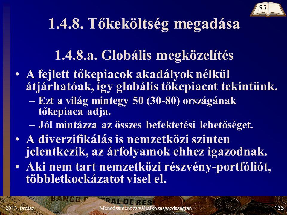 2013. tavasz 133 Menedzsment és vállalkozásgazdaságtan 1.4.8.a.