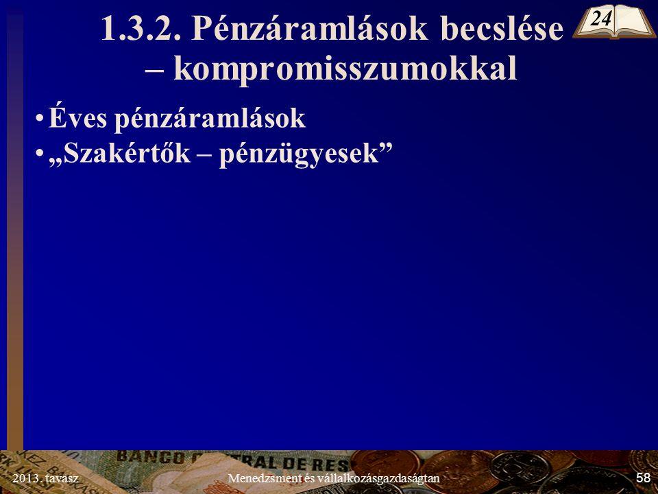 2013. tavasz 58 Menedzsment és vállalkozásgazdaságtan 1.3.2.