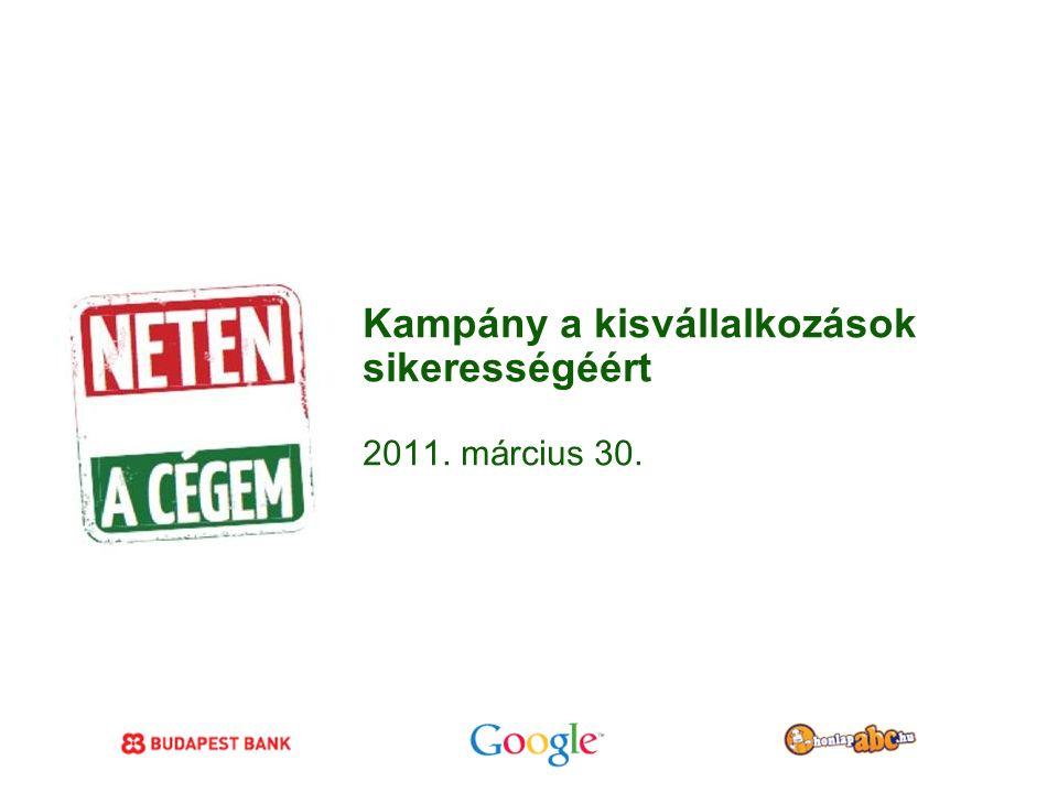 Google Confidential and Proprietary Kampány a kisvállalkozások sikerességéért 2011. március 30.