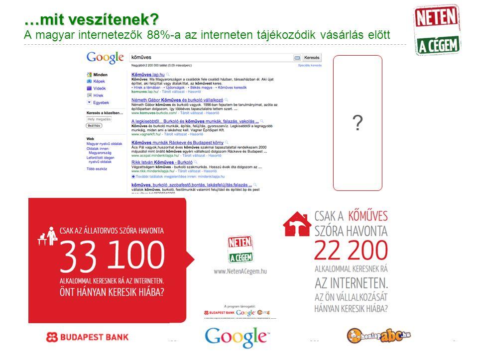 Google Confidential and Proprietary …mit veszítenek.