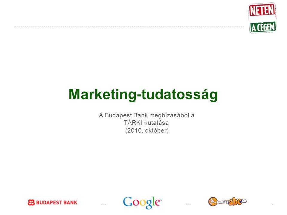 Google Confidential and Proprietary Marketing-tudatosság A Budapest Bank megbízásából a TÁRKI kutatása (2010.