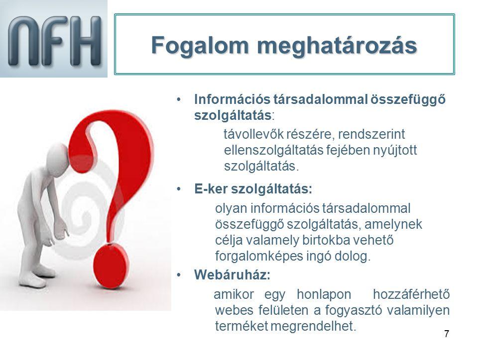 18 Jogszerű kereskedelmi gyakorlat Webáruház üzemeltetés esetén (9) Járulékos költségek megismerése.