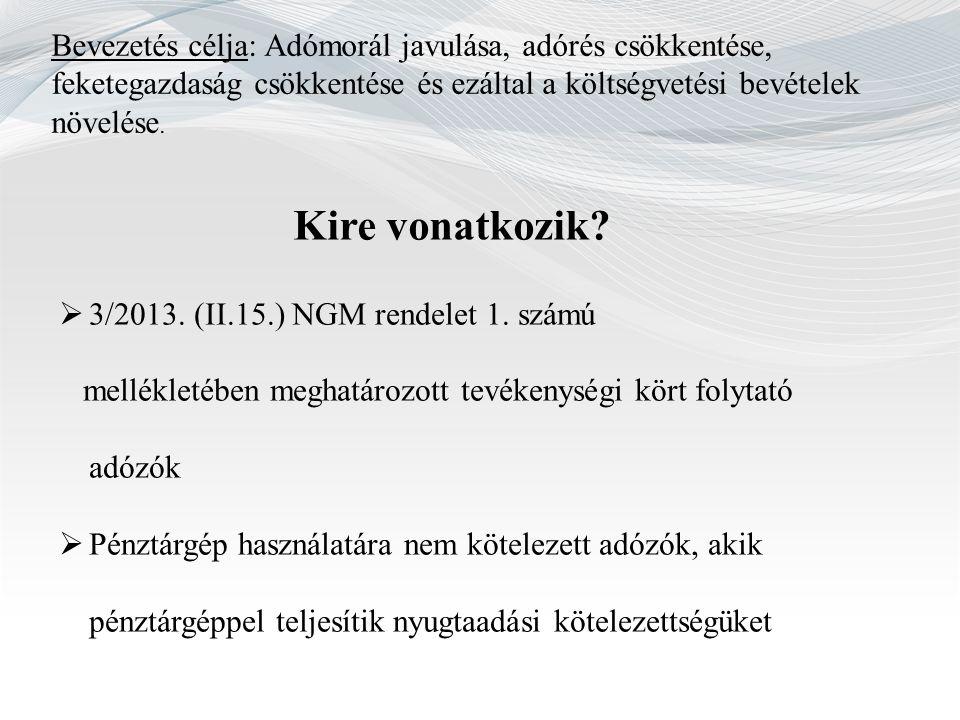 Támogatás I.AEE-vel rendelkező pénztárgép 2013.