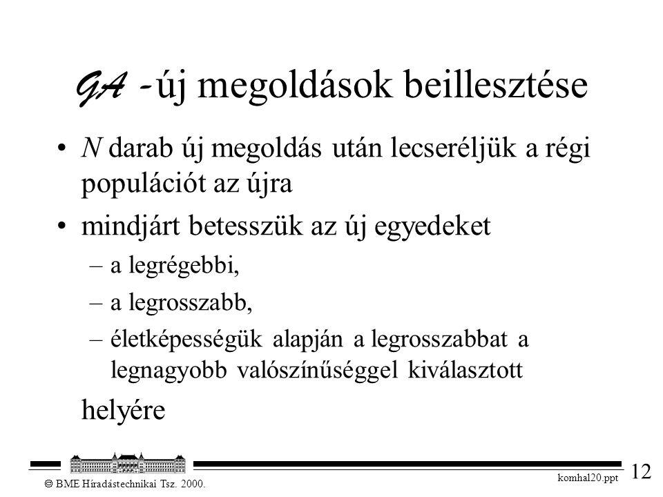 12  BME Híradástechnikai Tsz. 2000.
