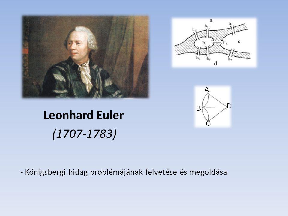Gustav Robert Kirchhoff (1824-1887) - Az első műszaki alkalmazást Kirchhoff dolgozta ki 1847-ban, mikor a gráfelméleti módszereket alkalmazott villamoshálózatok analízisére.