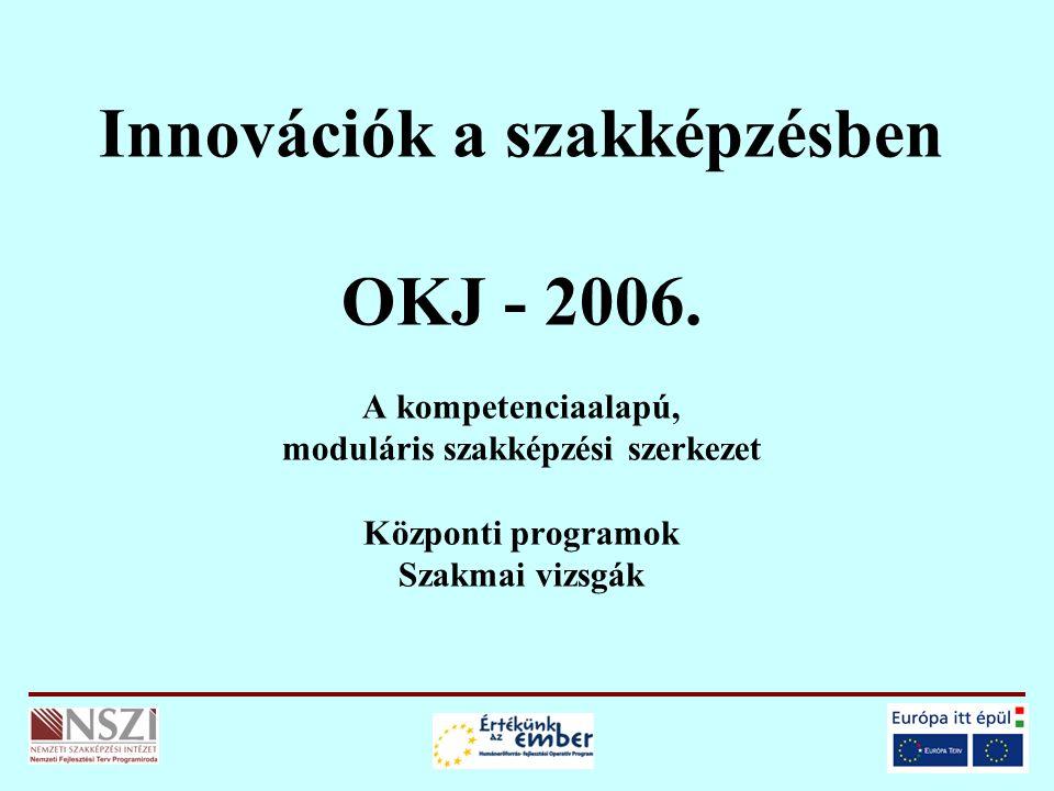 Innovációk a szakképzésben OKJ - 2006.