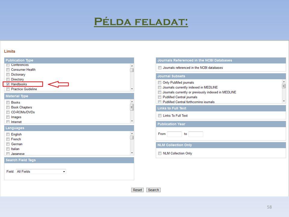 58 Példa feladat: