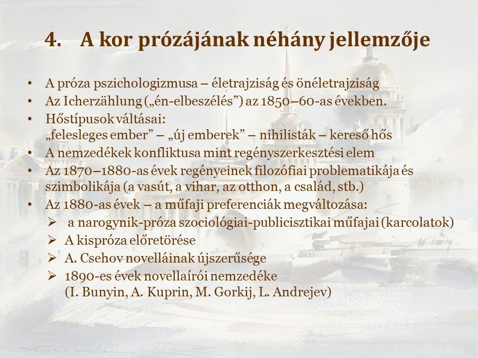 """A próza pszichologizmusa – életrajziság és önéletrajziság Az Icherzählung (""""én-elbeszélés ) az 1850–60-as években."""