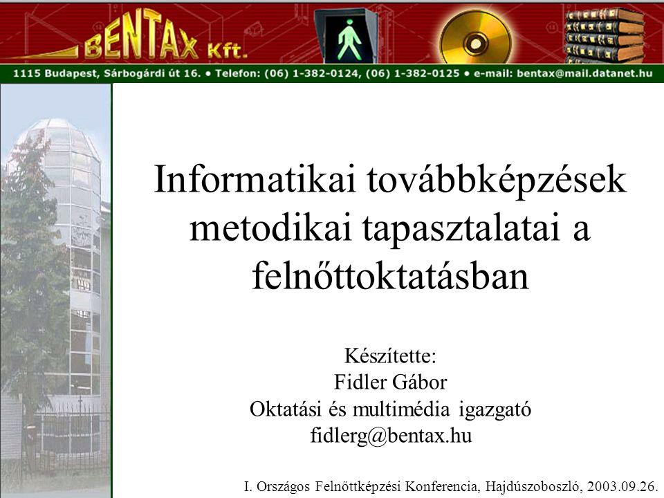 Informatikai továbbképzések metodikai tapasztalatai a felnőttoktatásban I.