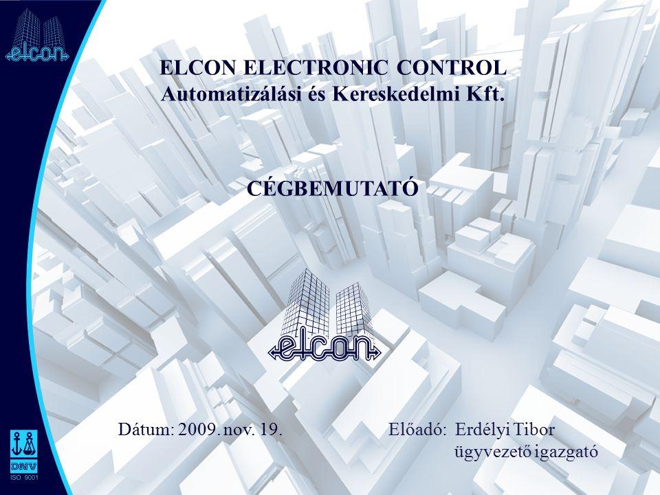 ELCON ELECTRONIC CONTROL Automatizálási és Kereskedelmi Kft.