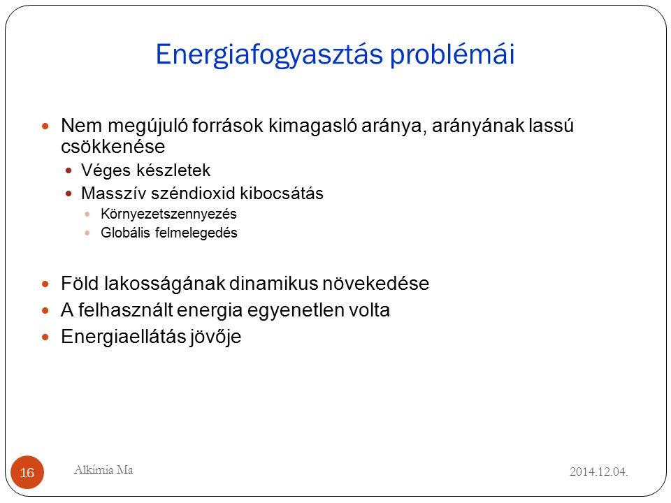 Energiafogyasztás problémái 2014.12.04.