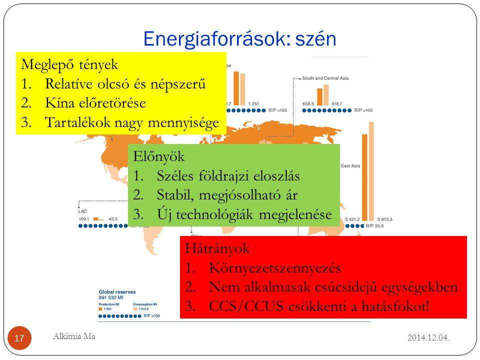 Energiaforrások: szén 2014.12.04.