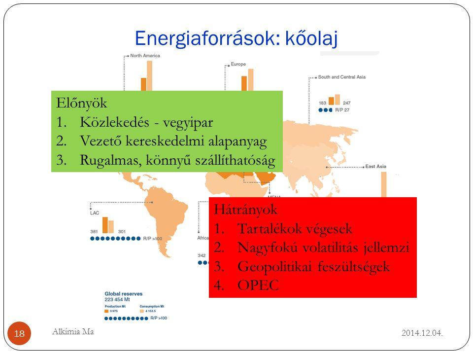 Energiaforrások: kőolaj 2014.12.04.