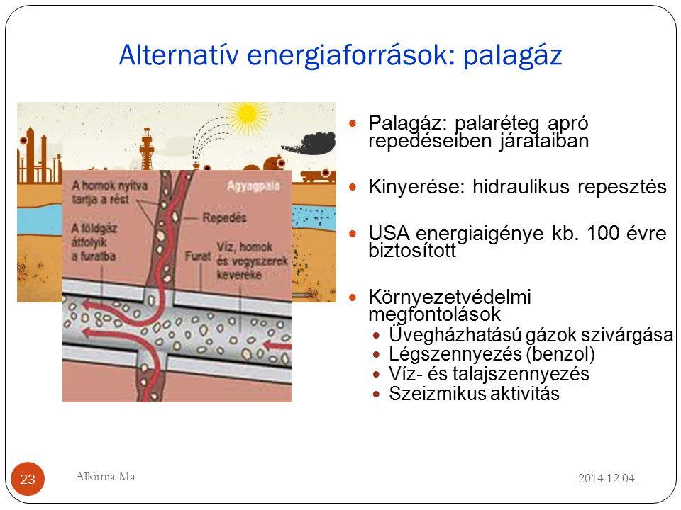 Alternatív energiaforrások: palagáz 2014.12.04.