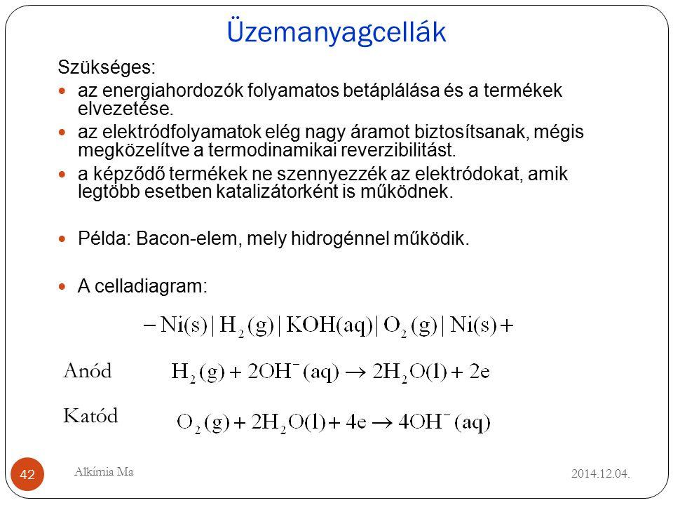 Üzemanyagcellák 2014.12.04.