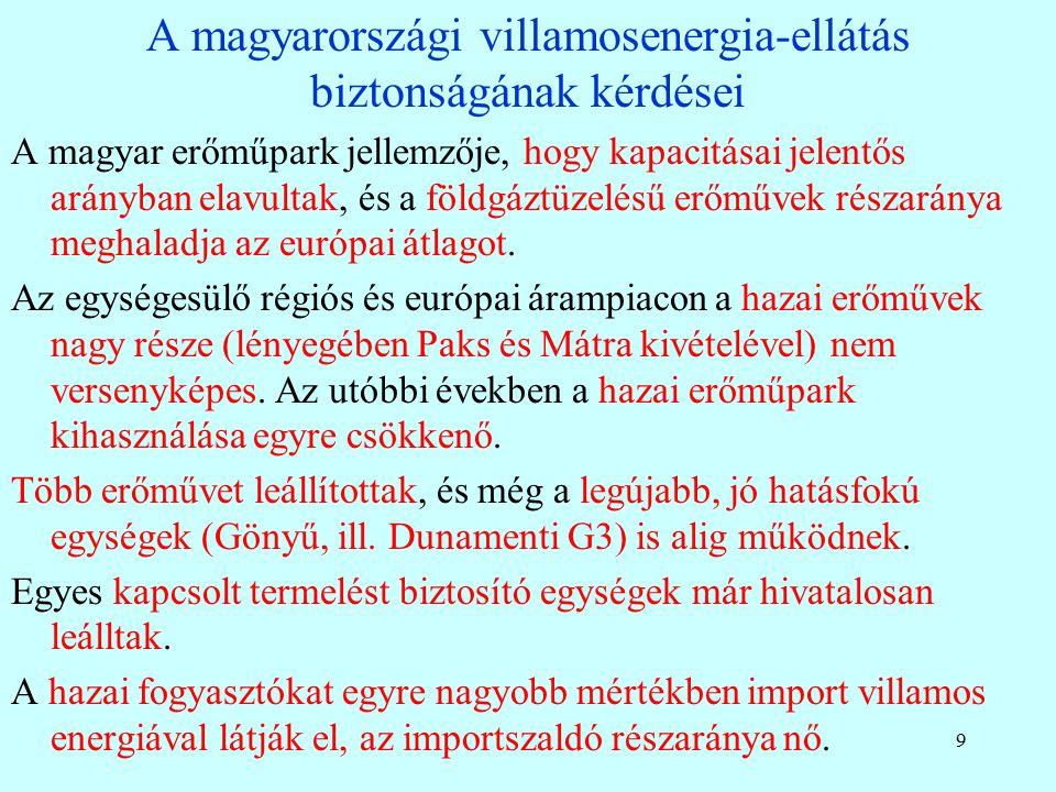 Nukleáris tervek a régióban Szomszédaink mindegyike tervez / épít atomerőművet Cseh tervek: 2 új blokk építése (Temelin, folyamatban) Szlovákia: Ha az MVM vagy a CEZ az olasz Eneltől megvásárolja a szlovák villamosművek (SE) többségi tulajdonrészét, akkor befejezi és üzemelteti az SE tulajdonát képező mohi (Mochovce) atomerőmű új blokkjait Lengyelo.: 2014 elején a lengyel kormány elfogadta azt az energetikai programot, melynek értelmében az első lengyel atomerőművi blokk 2024 végétől termelne.