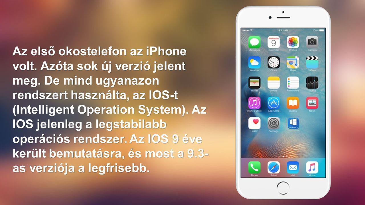 Az első okostelefon az iPhone volt. Azóta sok új verzió jelent meg.
