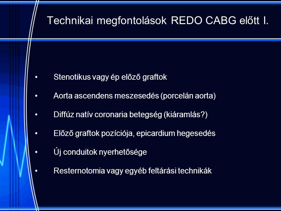 Technikai megfontolások REDO CABG előtt I.
