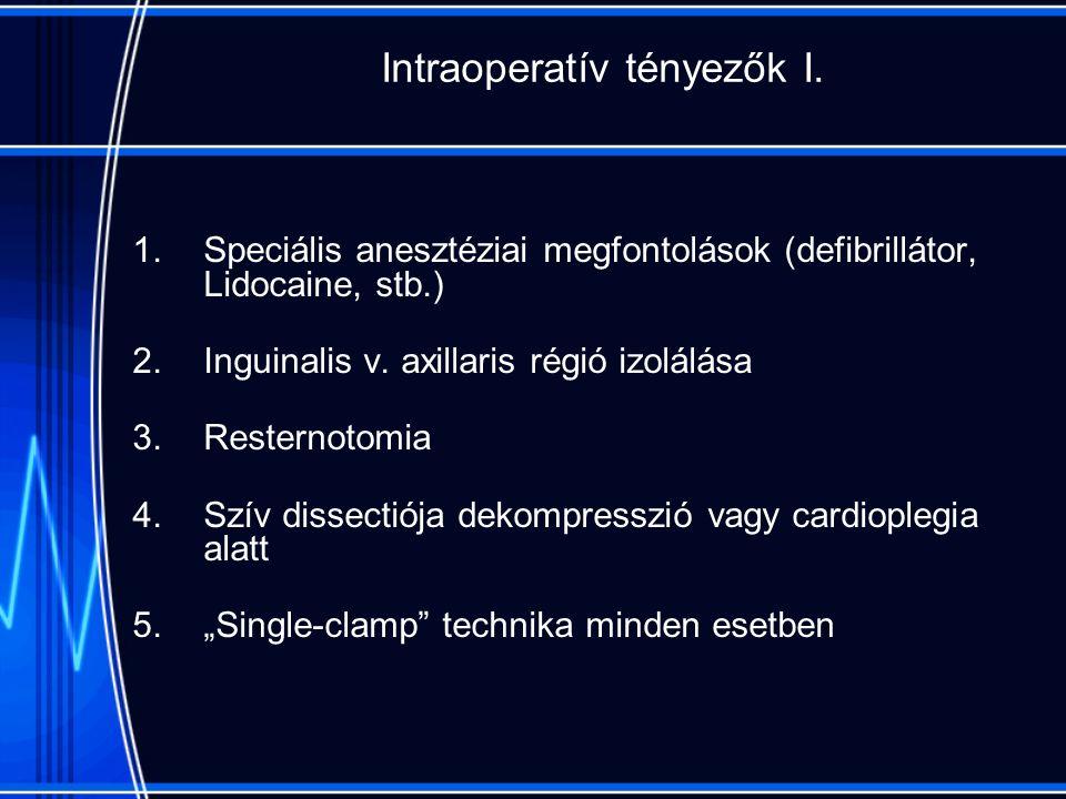 Intraoperatív tényezők I.
