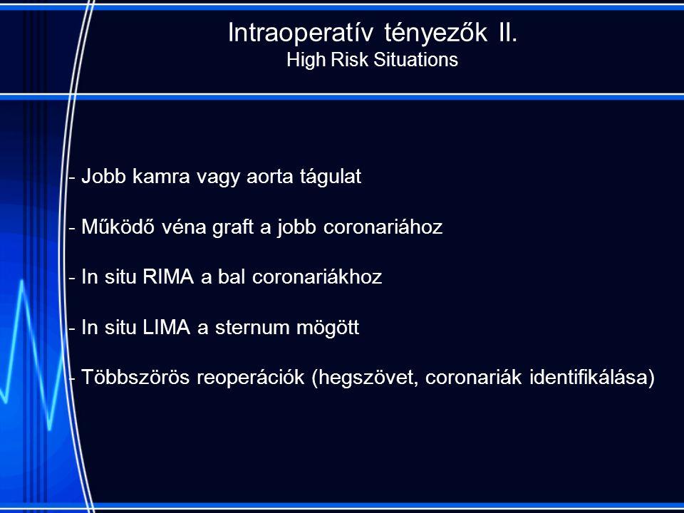Intraoperatív tényezők II.