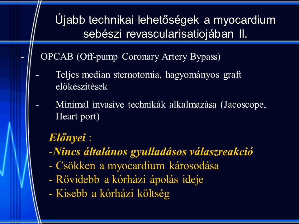 Újabb technikai lehetőségek a myocardium sebészi revascularisatiojában II.