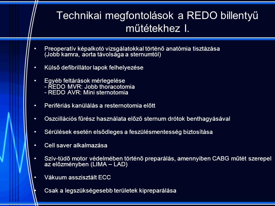 Technikai megfontolások a REDO billentyű műtétekhez I.