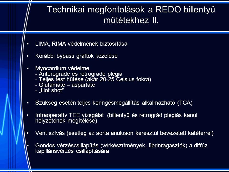Technikai megfontolások a REDO billentyű műtétekhez II.