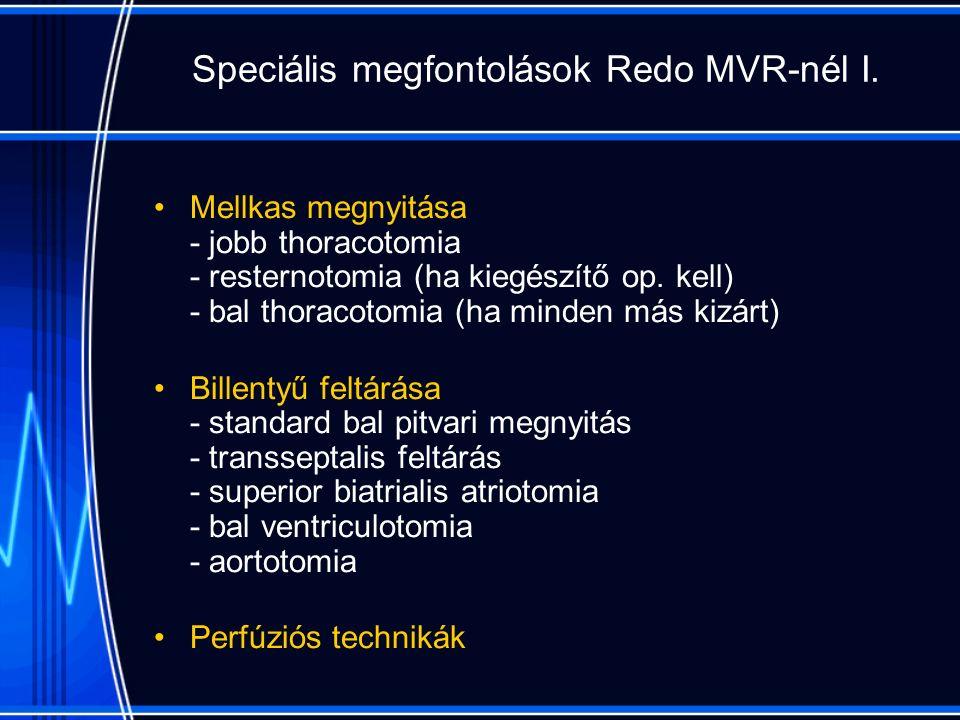 Speciális megfontolások Redo MVR-nél I.