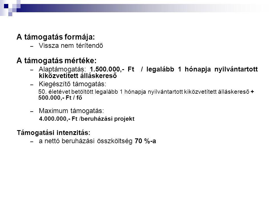 A pályázat benyújtásának feltételei: - 1 eredeti példányban zárt küldeményben, a lapokat lefűzve, rendezett, áttekinthető formában, fedőlappal és tartalomjegyzékkel ellátva, az útmutatóban rögzített formai és tartalmi követelményeknek megfelelően, magyar nyelven, az útmutató mellékleteiben szereplő szempontok alapján, kizárólag a pályázati dokumentációban lévő adatlapok számítógéppel történő kitöltésével kell elkészíteni, amelyhez csatolni kell a pályázati útmutató mellékleteiben szereplő minták alapján összeállított nyilatkozatokat és dokumentumokat.