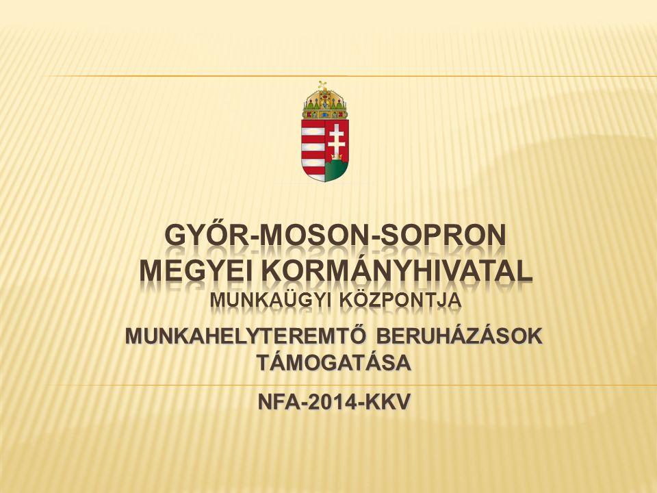 MUNKAHELYTEREMTŐ BERUHÁZÁSOK TÁMOGATÁSA NFA-2014-KKV