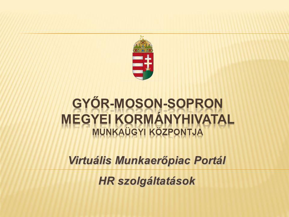 Virtuális Munkaerőpiac Portál HR szolgáltatások