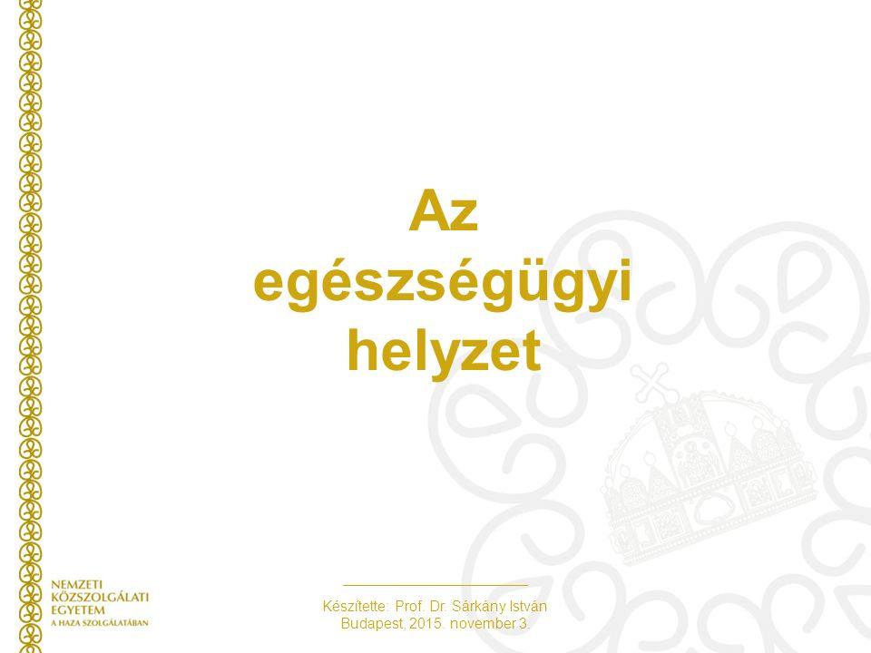 Készítette: Prof. Dr. Sárkány István Budapest, 2015. november 3. Az egészségügyi helyzet