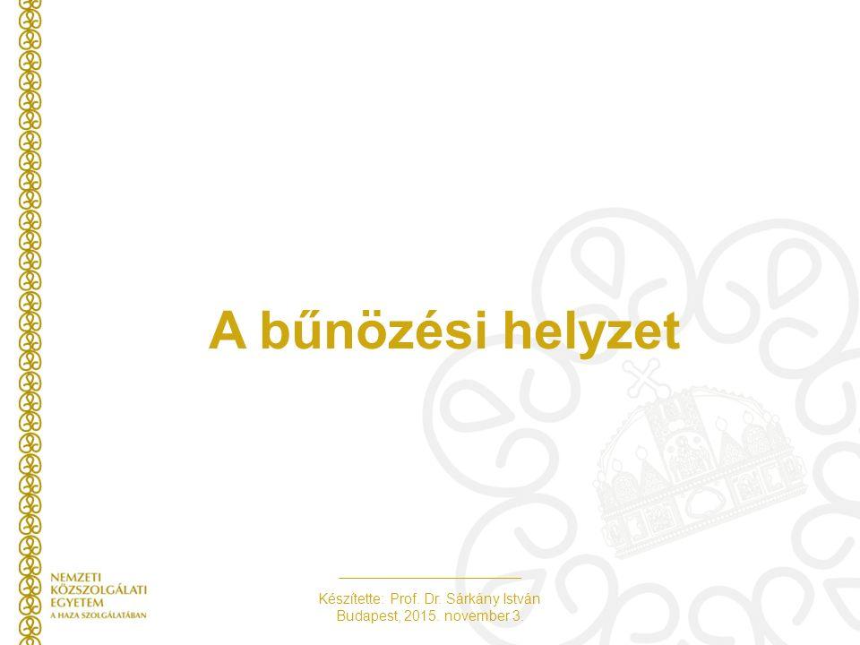 Készítette: Prof. Dr. Sárkány István Budapest, 2015. november 3. A bűnözési helyzet